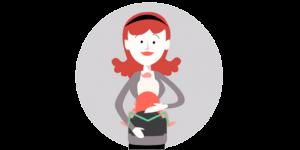 赤ちゃんの脚を適正なポジションに保ち、股関節の脱臼・変形を防ぐ